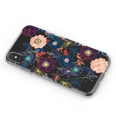 Lopard iPhone Xs Max Kılıf Silikon Arka Koruma Kapak Botanik Bahcesi Desenli Renkli